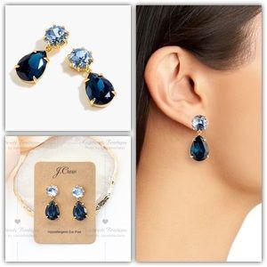 J.Crew Pear-Shaped Stone Drop Earrings - Blue